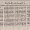 """Berliner Zeitung """"Die Stofflichkeit der Zeit"""""""